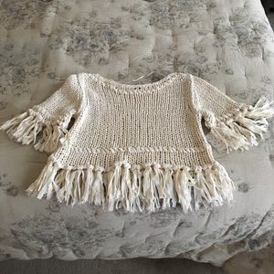 NWT free people short sleeve sweater